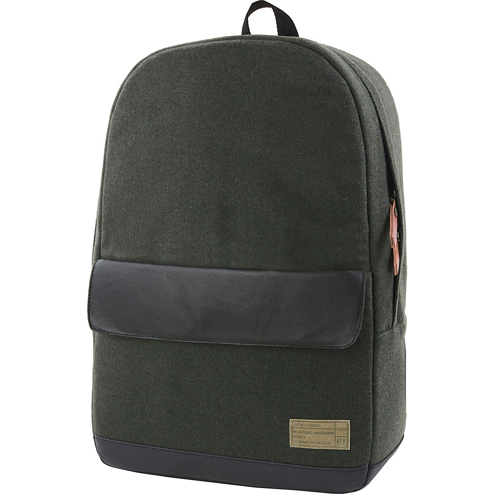 HEX Echo Backpack Stinson Olive Black HEX Business Laptop Backpacks