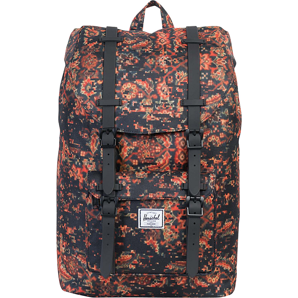 Herschel Supply Co. Little America Mid Volume Laptop Backpack Discontinued Colors Century Black Rubber Herschel Supply Co. Business Laptop Backpacks