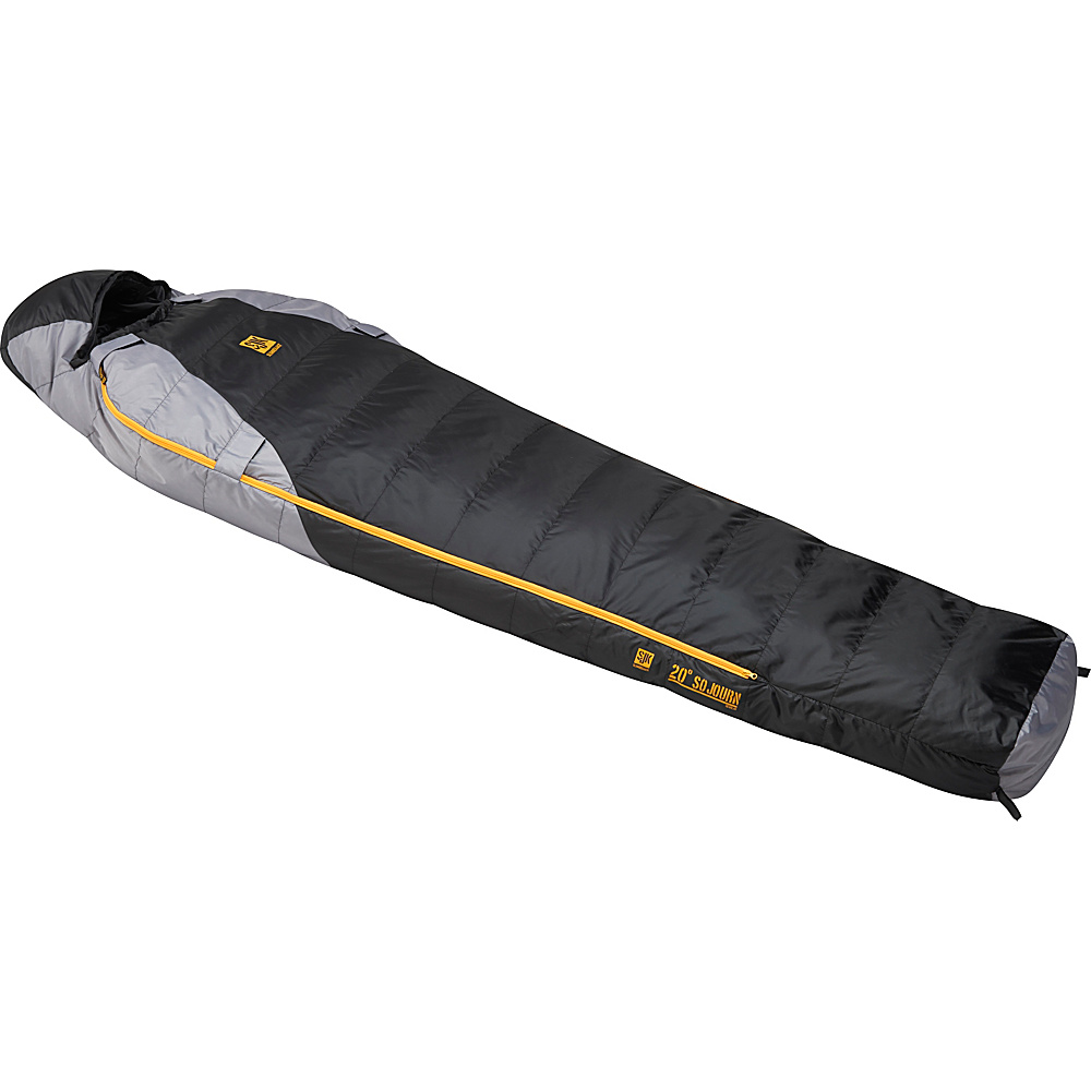 Slumberjack Sojourn 20 Degree 550f Reg Dual Zipper Black Gray Slumberjack Outdoor Accessories