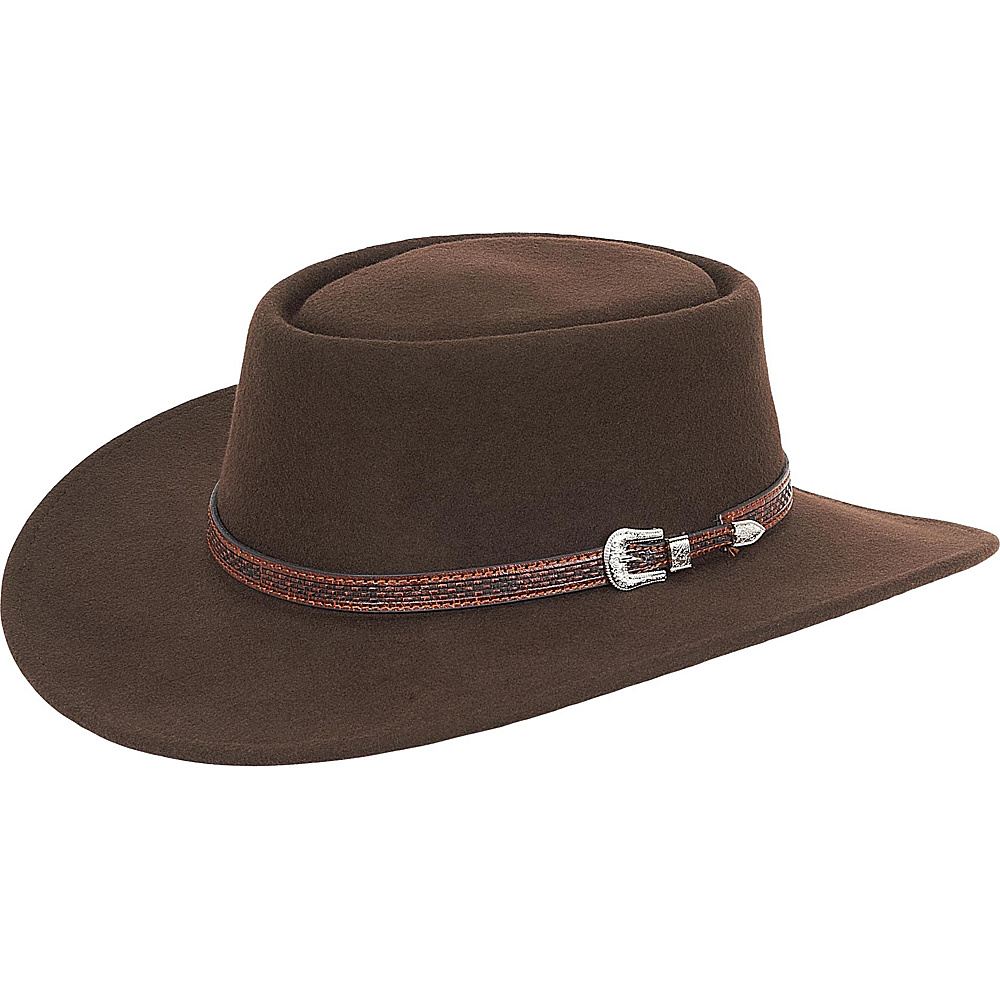 Adora Hats Wool Felt Western Hat Brown Adora Hats Hats Gloves Scarves