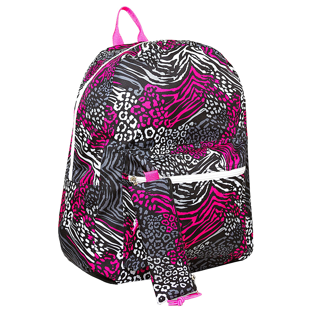 MKF Collection Girls Back To School Backpack with Matching Pencil Pouch Pink - MKF Collection Everyday Backpacks - Backpacks, Everyday Backpacks