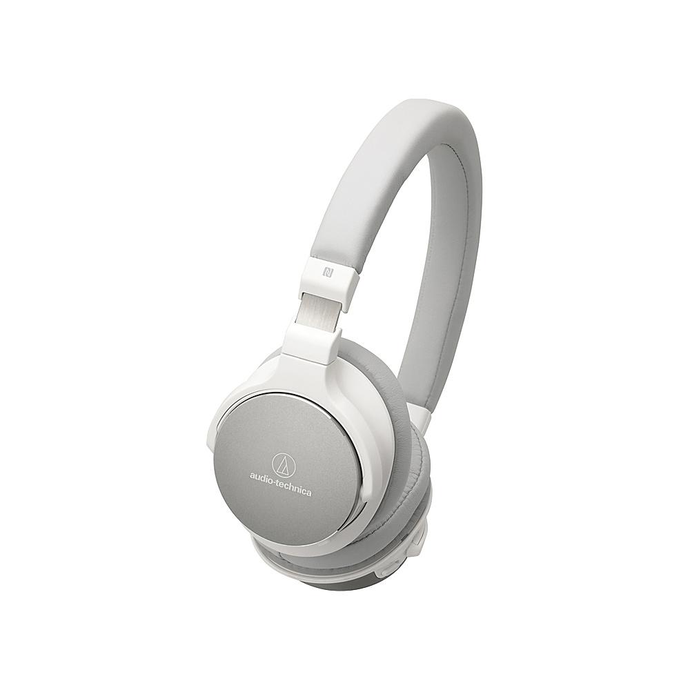 Audio Technica Bluetooth Wireless On Ear High Resolution Audio Headphones White Audio Technica Headphones Speakers