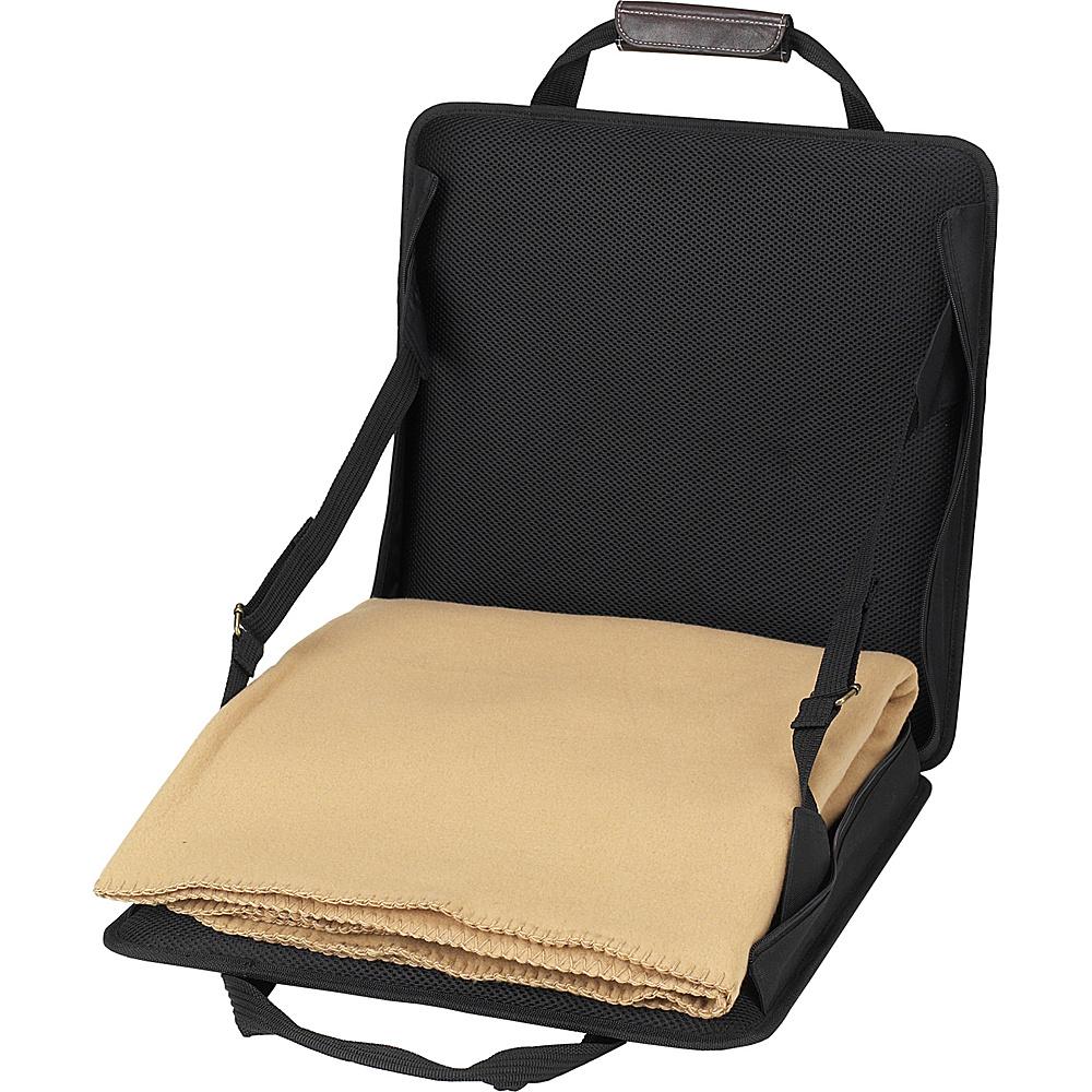 Picnic at Ascot Portable Adjustable Reclining Seat with Fleece Blanket Black - Picnic at Ascot Outdoor Accessories - Outdoor, Outdoor Accessories