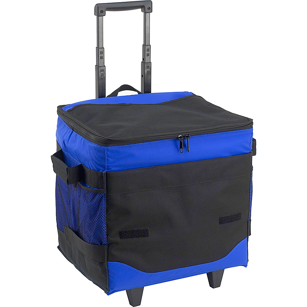 Picnic at Ascot 60 Can Collapsible Insulated Rolling Cooler Royal Blue - Picnic at Ascot Outdoor Coolers - Outdoor, Outdoor Coolers