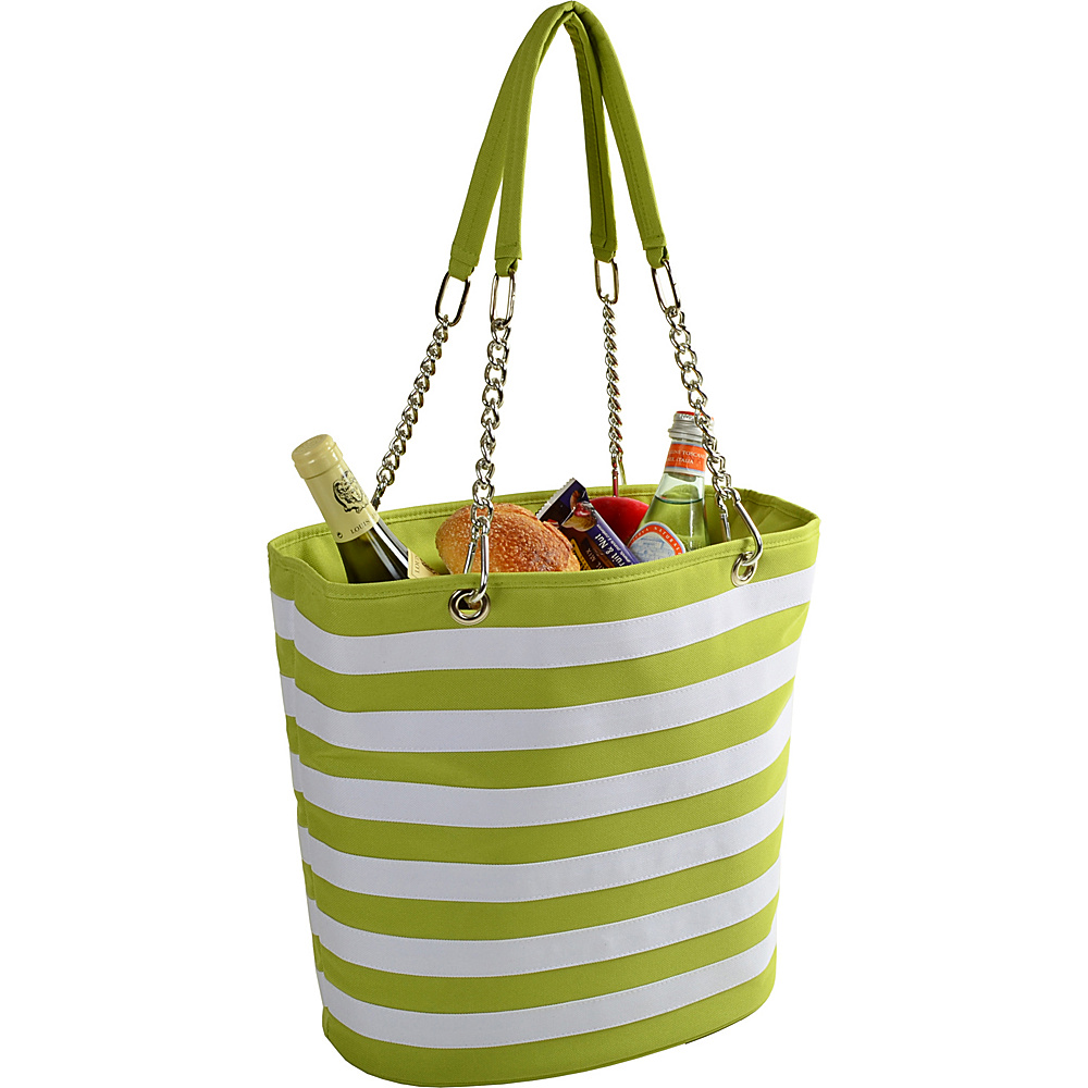Picnic at Ascot Insulated Fashion Cooler Bag - 22 Can Tote Apple/White - Picnic at Ascot Outdoor Coolers