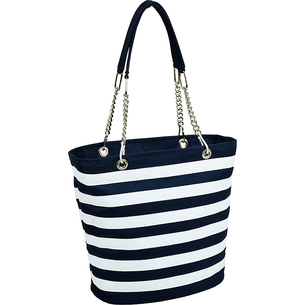 Picnic at Ascot Insulated Fashion Cooler Bag - 22 Can Tote Blue & White - Picnic at Ascot Outdoor Coolers