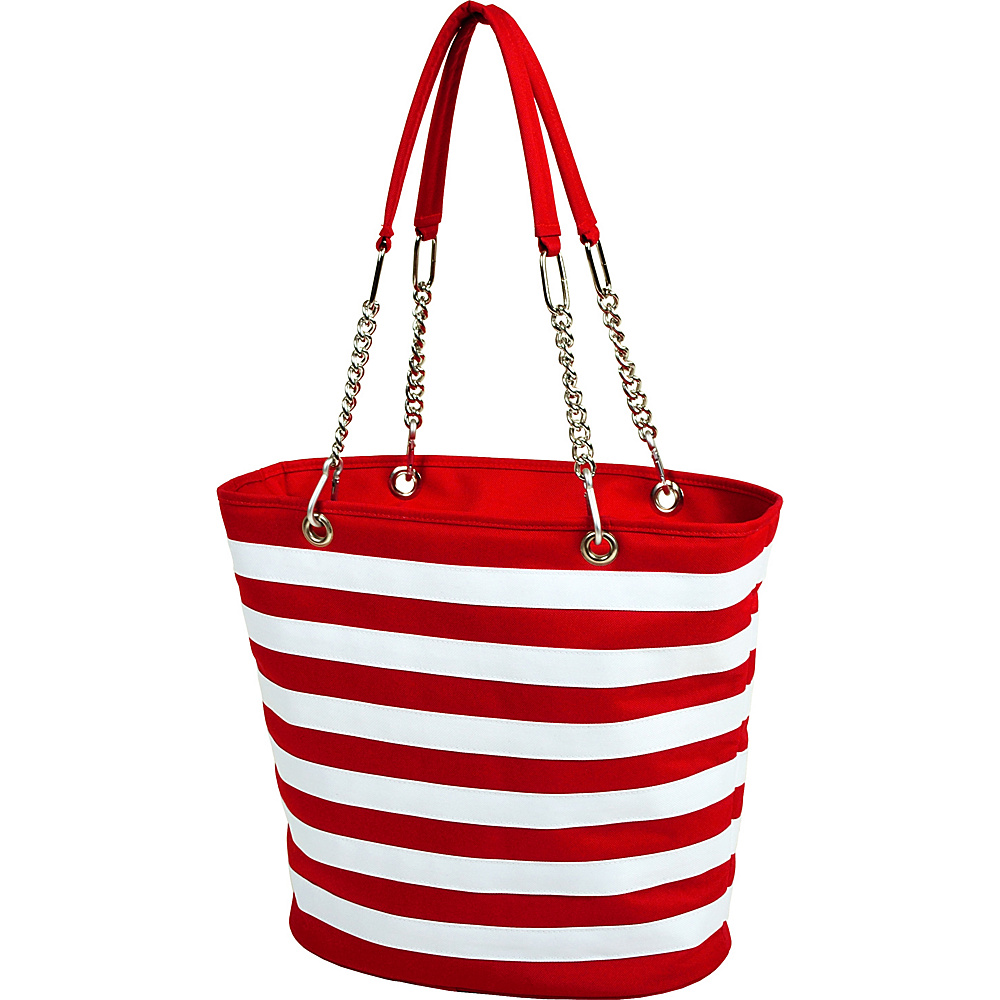 Picnic at Ascot Insulated Fashion Cooler Bag - 22 Can Tote Red & White - Picnic at Ascot Outdoor Coolers - Outdoor, Outdoor Coolers