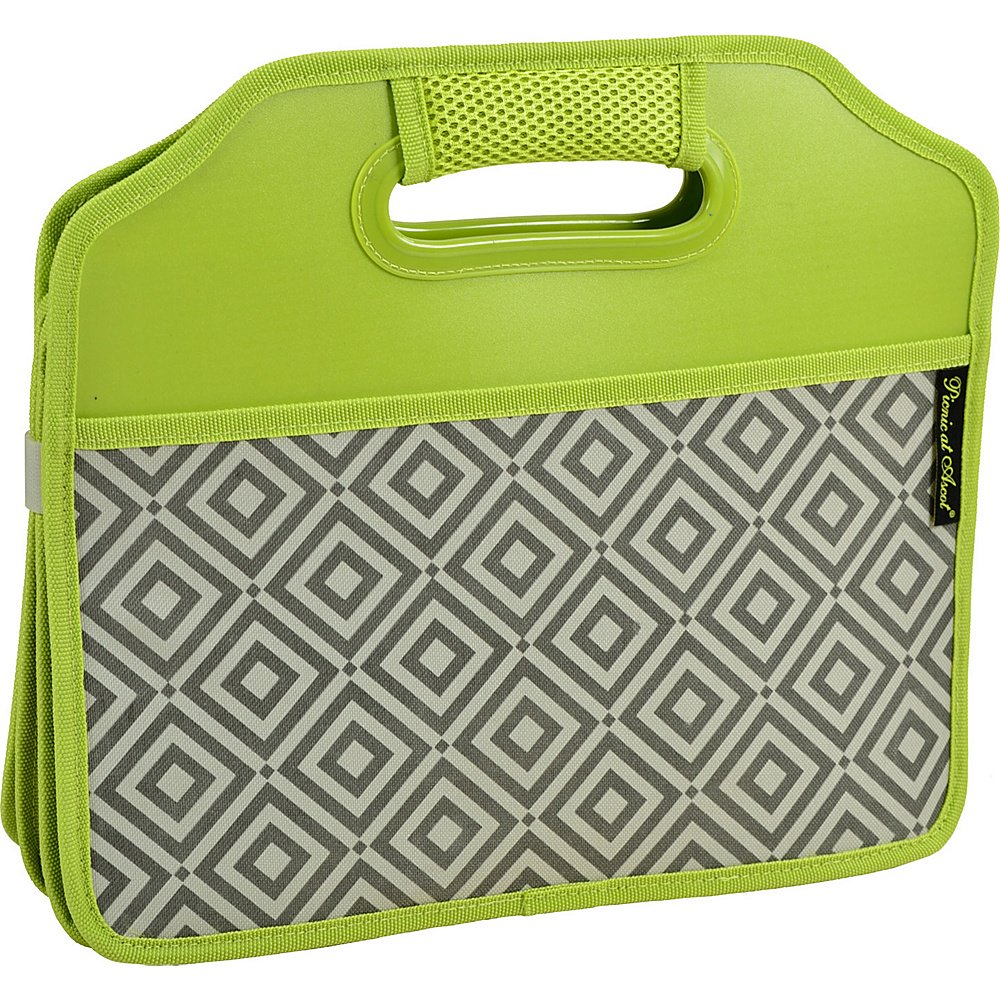 Picnic at Ascot Original Folding Trunk Organizer, designed by Picnic at Ascot Granite Grey/Green - Picnic at Ascot Trunk and Transport Organization - Travel Accessories, Trunk and Transport Organization