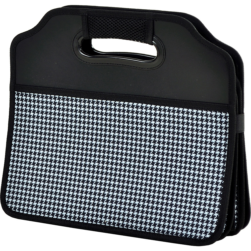 Picnic at Ascot Original Folding Trunk Organizer, designed by Picnic at Ascot Houndstooth - Picnic at Ascot Trunk and Transport Organization - Travel Accessories, Trunk and Transport Organization