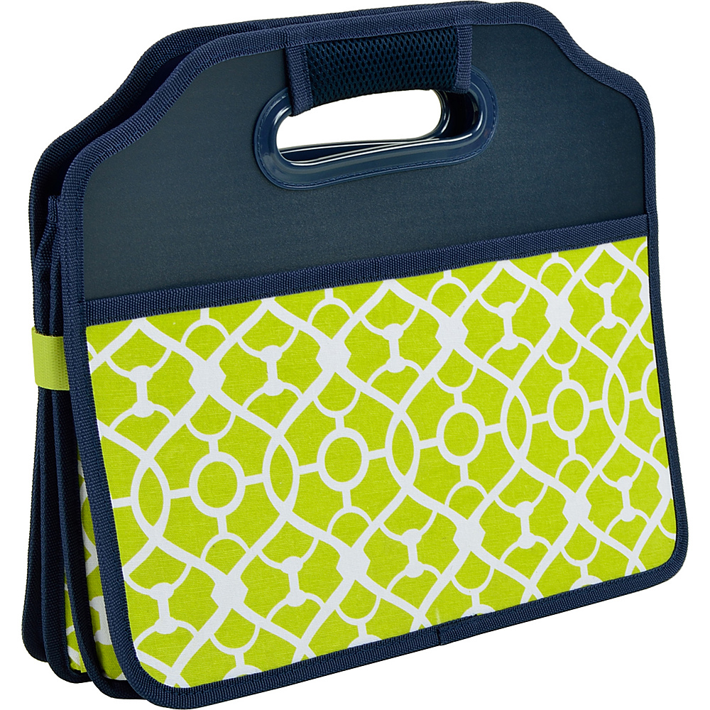 Picnic at Ascot Original Folding Trunk Organizer, designed by Picnic at Ascot Trellis Green - Picnic at Ascot Trunk and Transport Organization - Travel Accessories, Trunk and Transport Organization