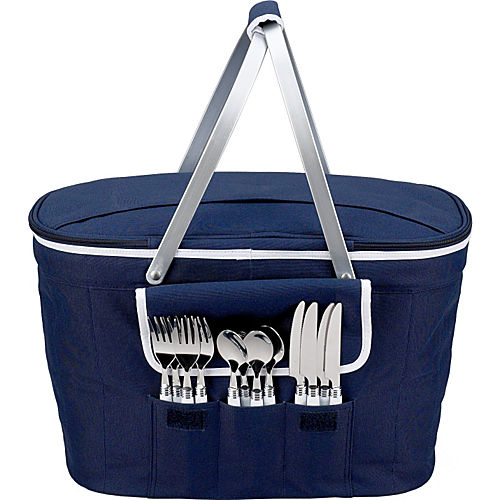 Picnic At Ascot Collapsible Insulated Picnic Basket For 4 : Picnic at ascot collapsible insulated basket