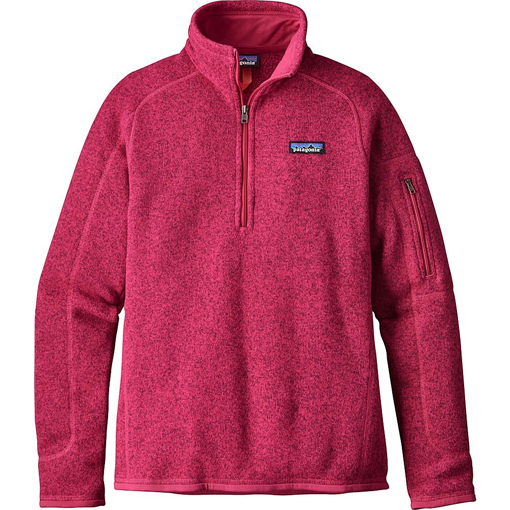 Patagonia Womens Better Sweater 1/4 Zip XXS - Craft Pink - Patagonia Womens Apparel - Apparel & Footwear, Women's Apparel