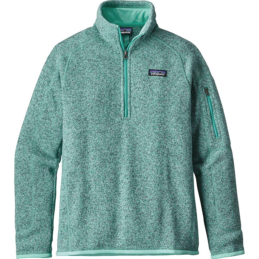 Patagonia Womens Better Sweater 1/4 Zip XXS - Galah Green - Patagonia Womens Apparel - Apparel & Footwear, Women's Apparel