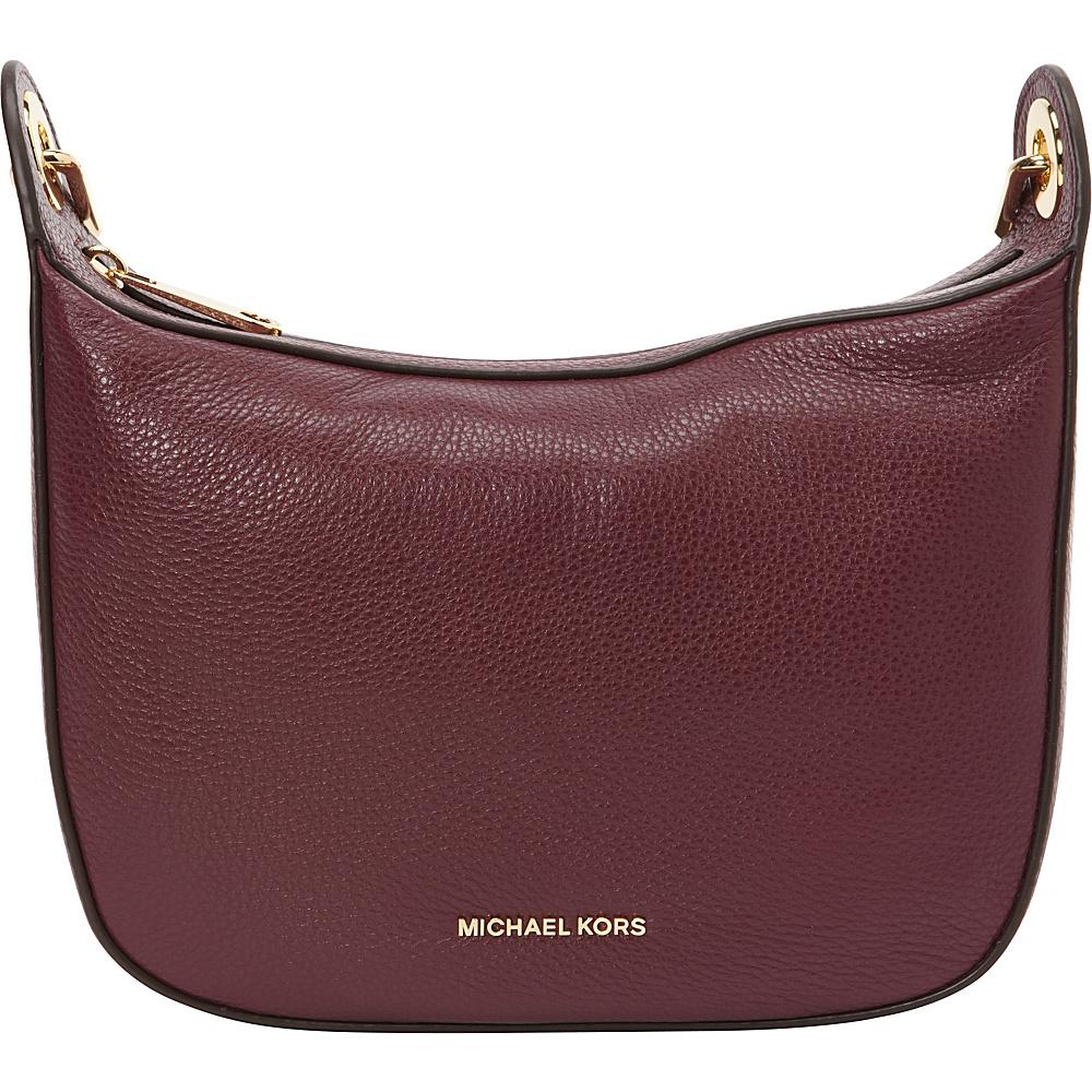 MICHAEL Michael Kors Raven Medium Messenger Plum MICHAEL Michael Kors Designer Handbags