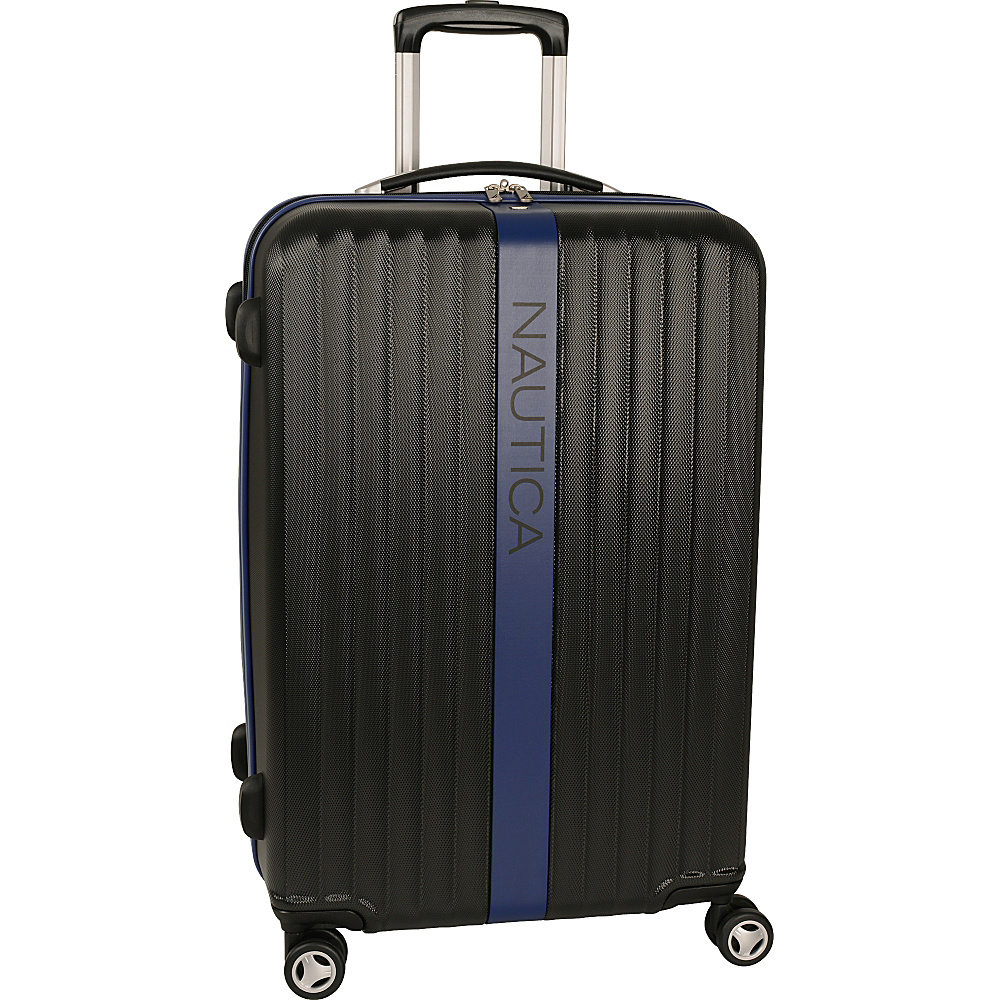 "Nautica Surfers Paradise 25"" Hardside Spinner Black/Blue - Nautica Hardside Luggage"