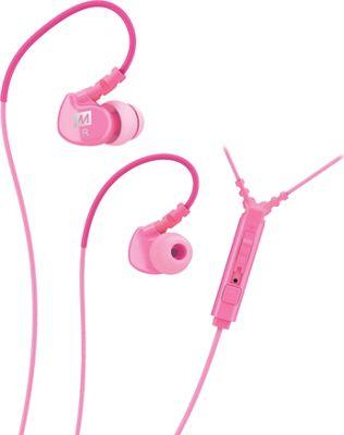 MEE Audio Sport-Fi Noise Isolating In-Ear Headphone with Microphone, Remote & Universal Volume Control Pink - MEE Audio Headphones & Speakers