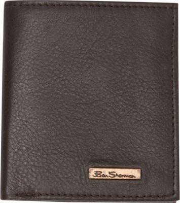 Ben Sherman Luggage Hackney Collection Leather RFID Slim Square Passcase Wallet Brown - Ben Sherman Luggage Men's Wallets