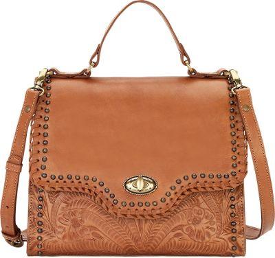 American West Hidalgo Top Handle Convertible Flap Bag Golden Tan - American West Leather Handbags