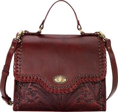 American West Hidalgo Top Handle Convertible Flap Bag Distressed Crimson - American West Leather Handbags