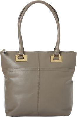 Tignanello Showstopper Smooth Leather Shopper Shitake - Tignanello Leather Handbags