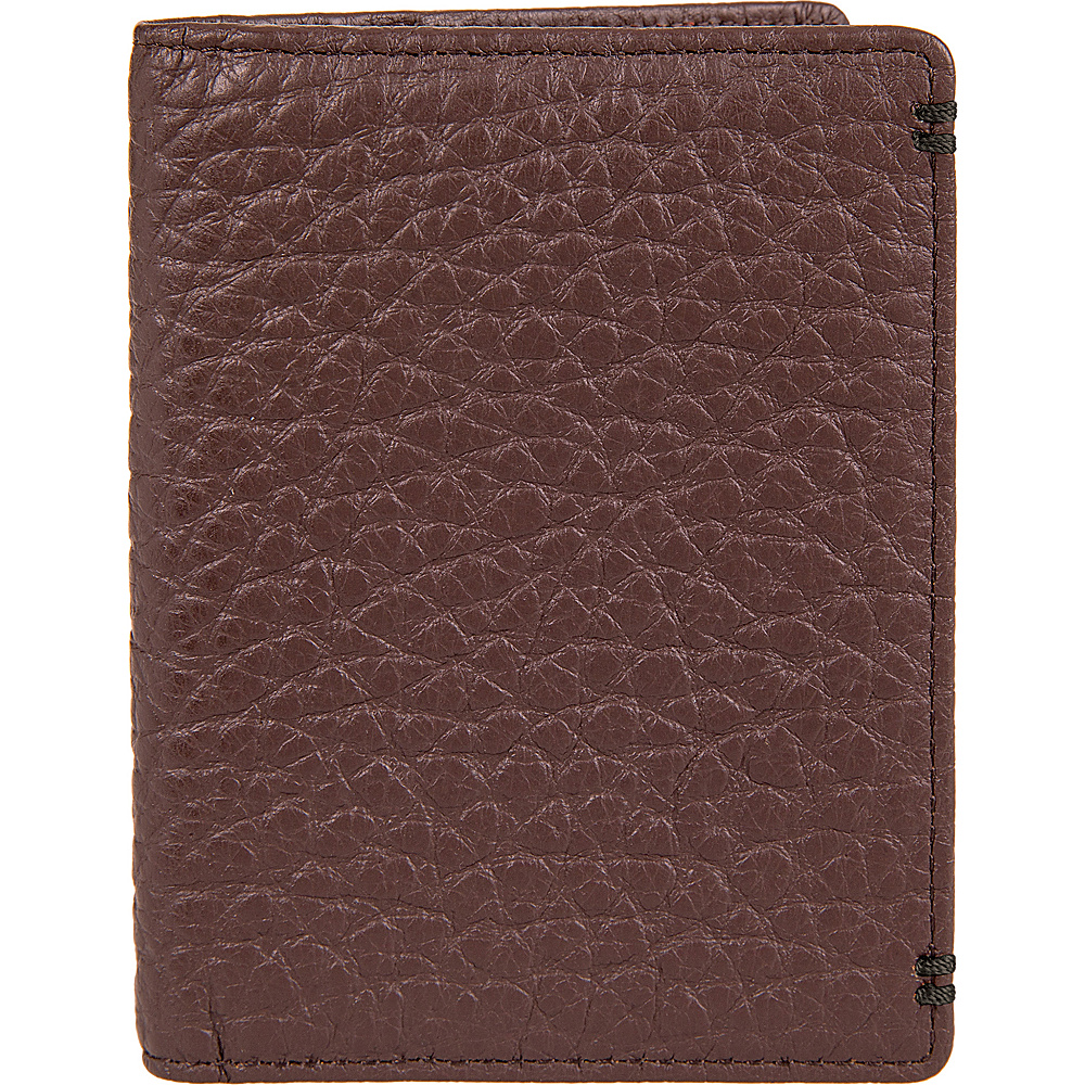 Lodis Borrego Under Lock and Key Harvey Money Clip Bifold Dark Brown - Lodis Mens Wallets - Work Bags & Briefcases, Men's Wallets