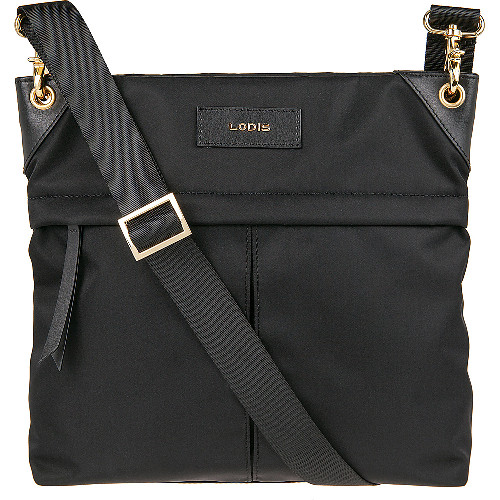 Lodis Blar Nylon Under Lock and Key Caryn Travel Crossbody Black - Lodis Fabric Handbags - Handbags, Fabric Handbags