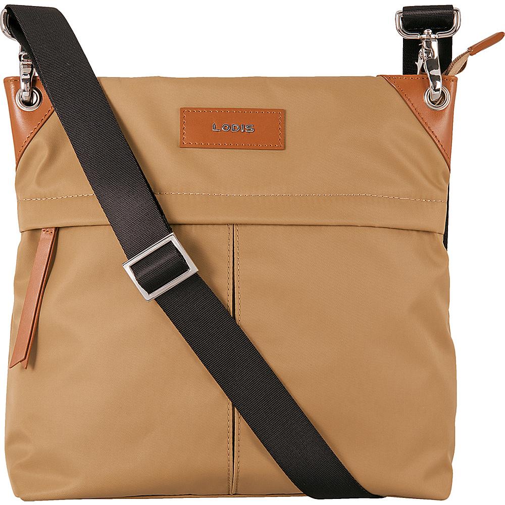 Lodis Blar Nylon Under Lock and Key Caryn Travel Crossbody Light Brown - Lodis Fabric Handbags - Handbags, Fabric Handbags