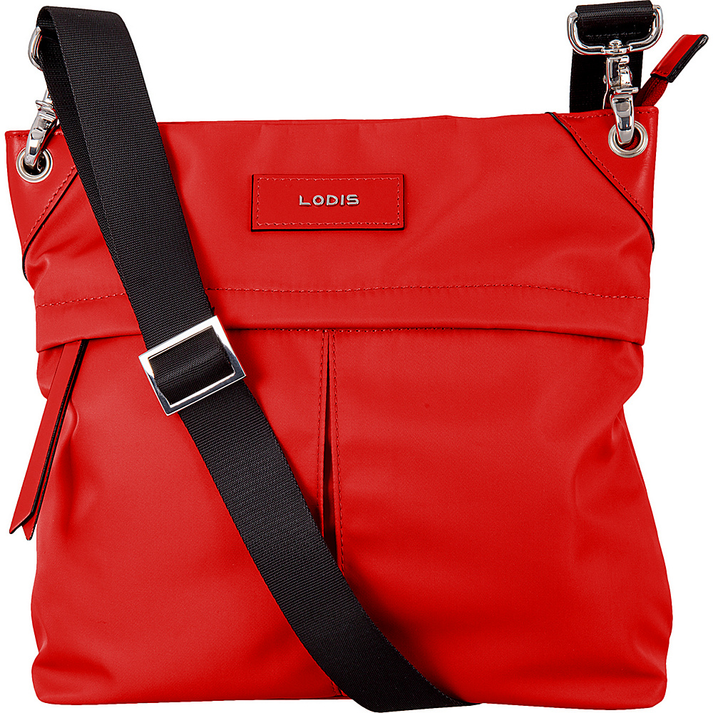Lodis Blar Nylon Under Lock and Key Caryn Travel Crossbody Red - Lodis Fabric Handbags - Handbags, Fabric Handbags