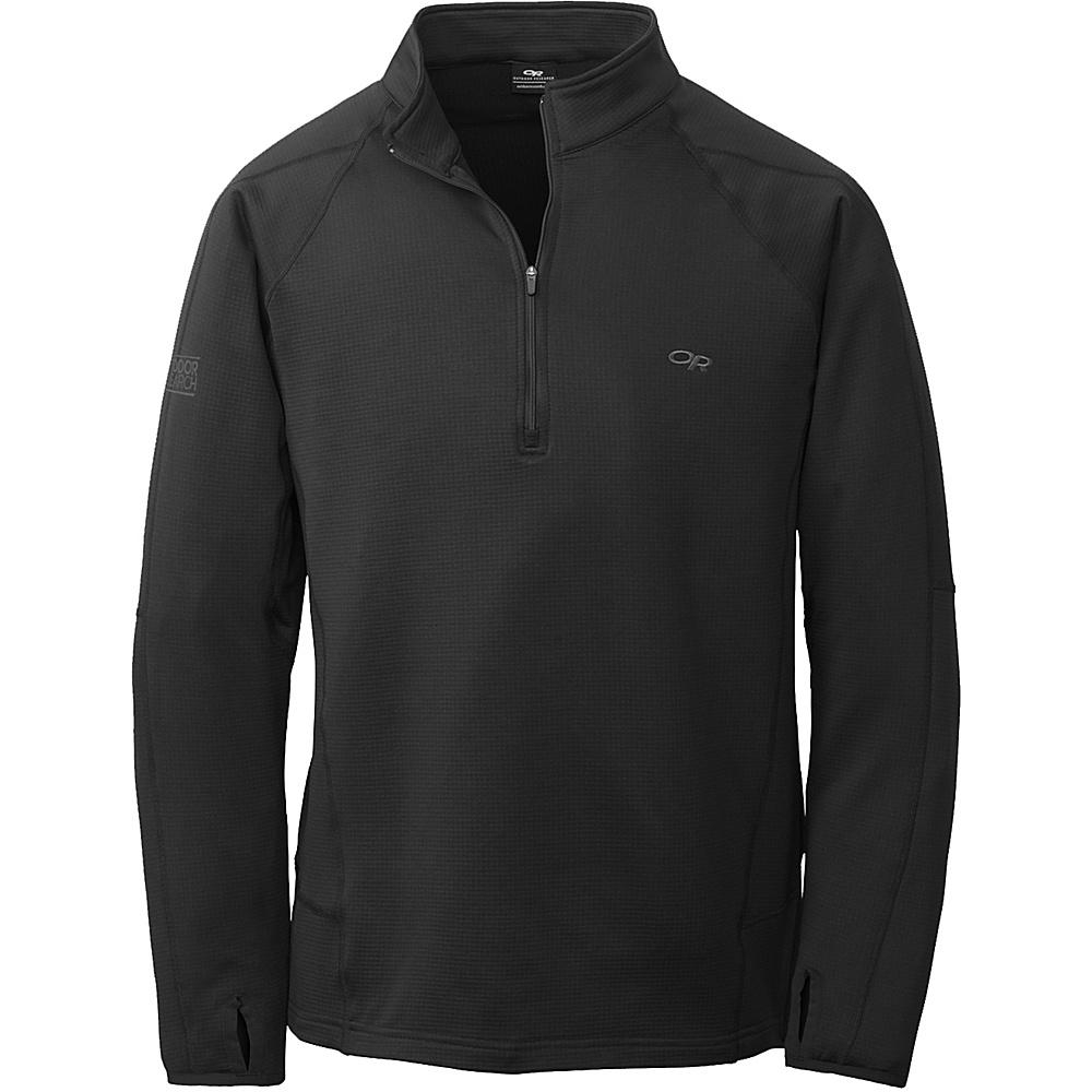 Outdoor Research Radiant LT Zip Top M - Black - Outdoor Research Mens Apparel - Apparel & Footwear, Men's Apparel