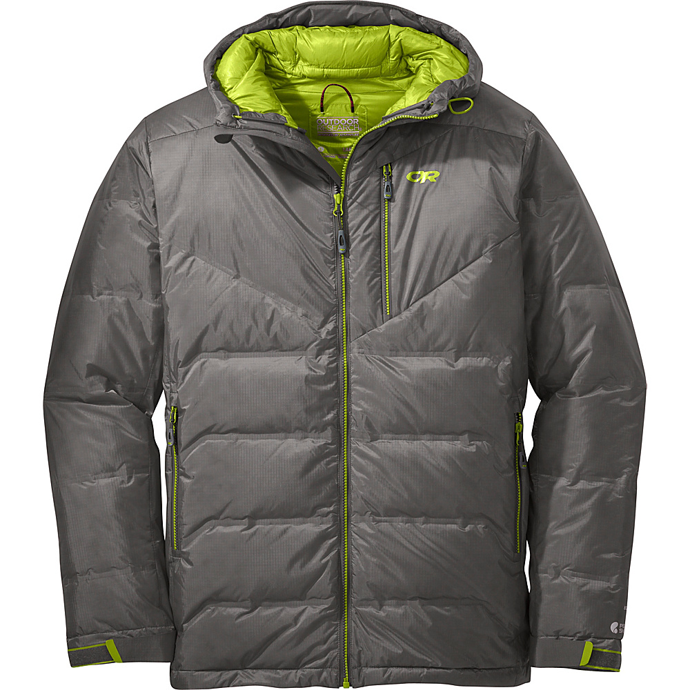Outdoor Research Floodlight Jacket M - Pewter/Lemongrass - Outdoor Research Mens Apparel - Apparel & Footwear, Men's Apparel