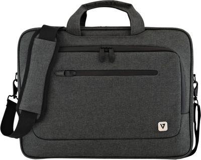 V7 14.1 inch Slim Laptop Case with Shoulder Strap Black - V7 Non-Wheeled Business Cases