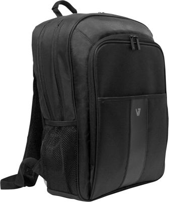 V7 16 inch Professional 2 Laptop and Tablet Backpack Black - V7 Non-Wheeled Business Cases