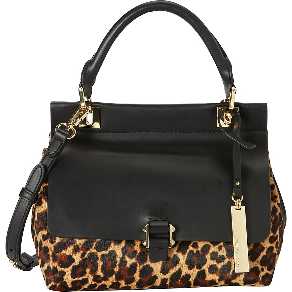 Vince Camuto Beca Crossbody True Leopard Black Vince Camuto Designer Handbags