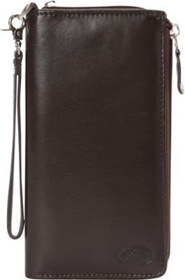 Mancini Leather Goods Manchester Collection: Ladies RFID Trifold Wallet Brown - Mancini Leather Goods Women's Wallets
