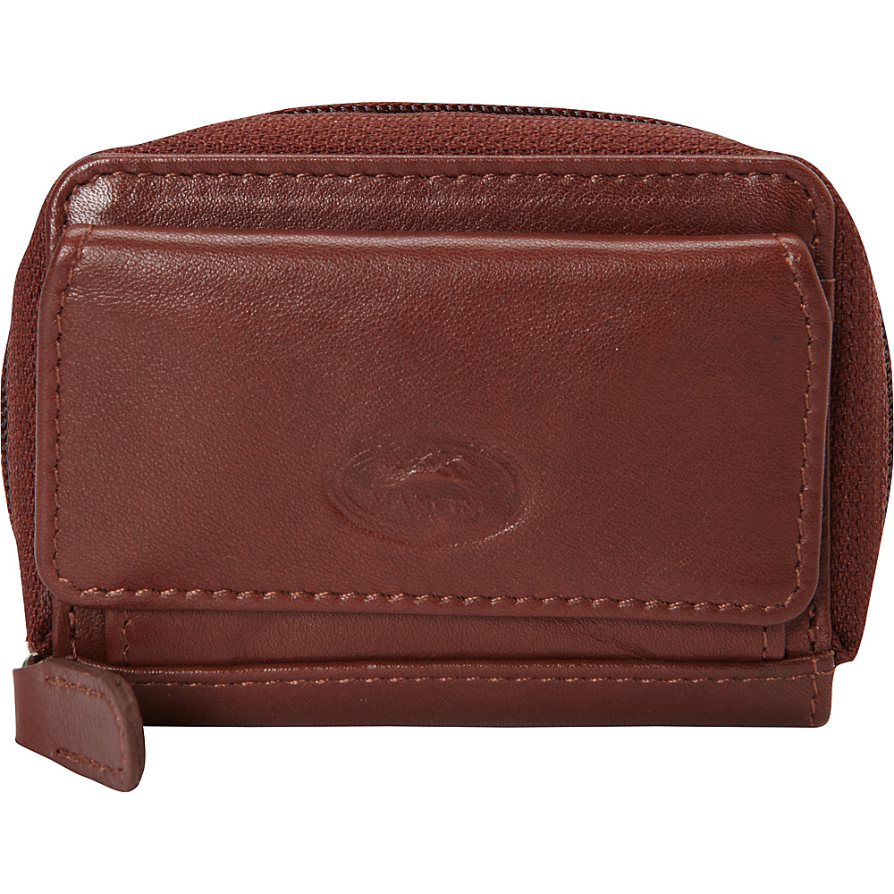Mancini Leather Goods Manchester Collection: Men's RFID Accordion Credit Card Case Cognac - Mancini Leather Goods Men's Wallets