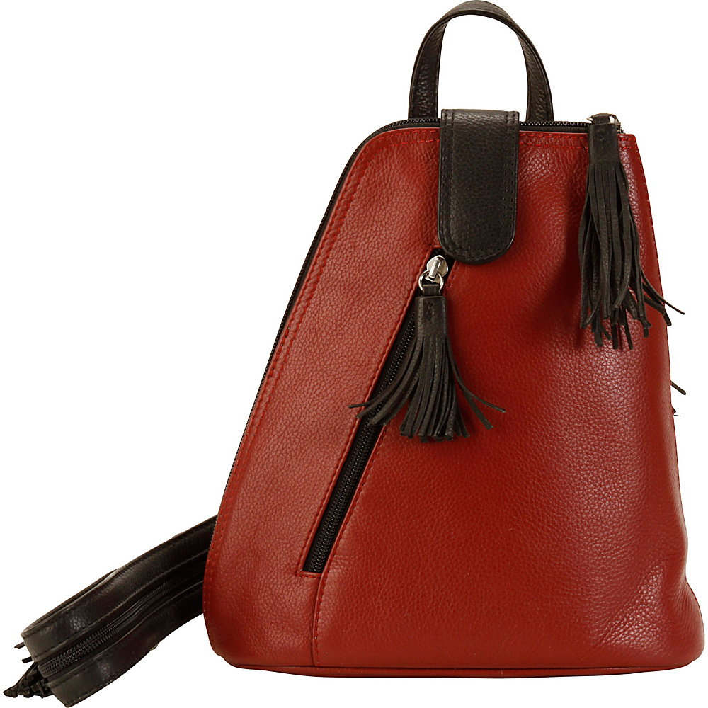 Hadaki Backpack Deep Red - Hadaki Leather Handbags - Handbags, Leather Handbags