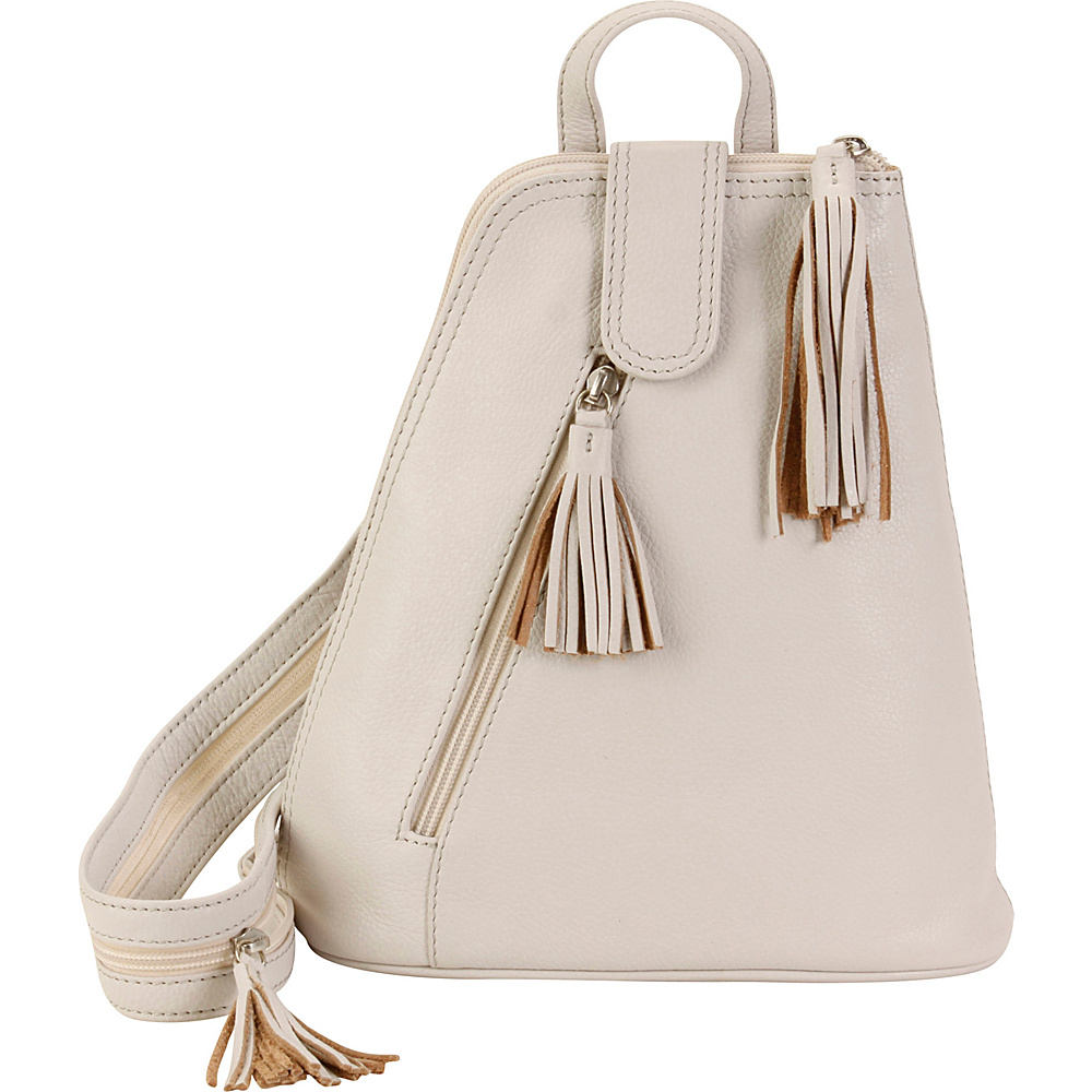 Hadaki Backpack Ivory - Hadaki Leather Handbags - Handbags, Leather Handbags