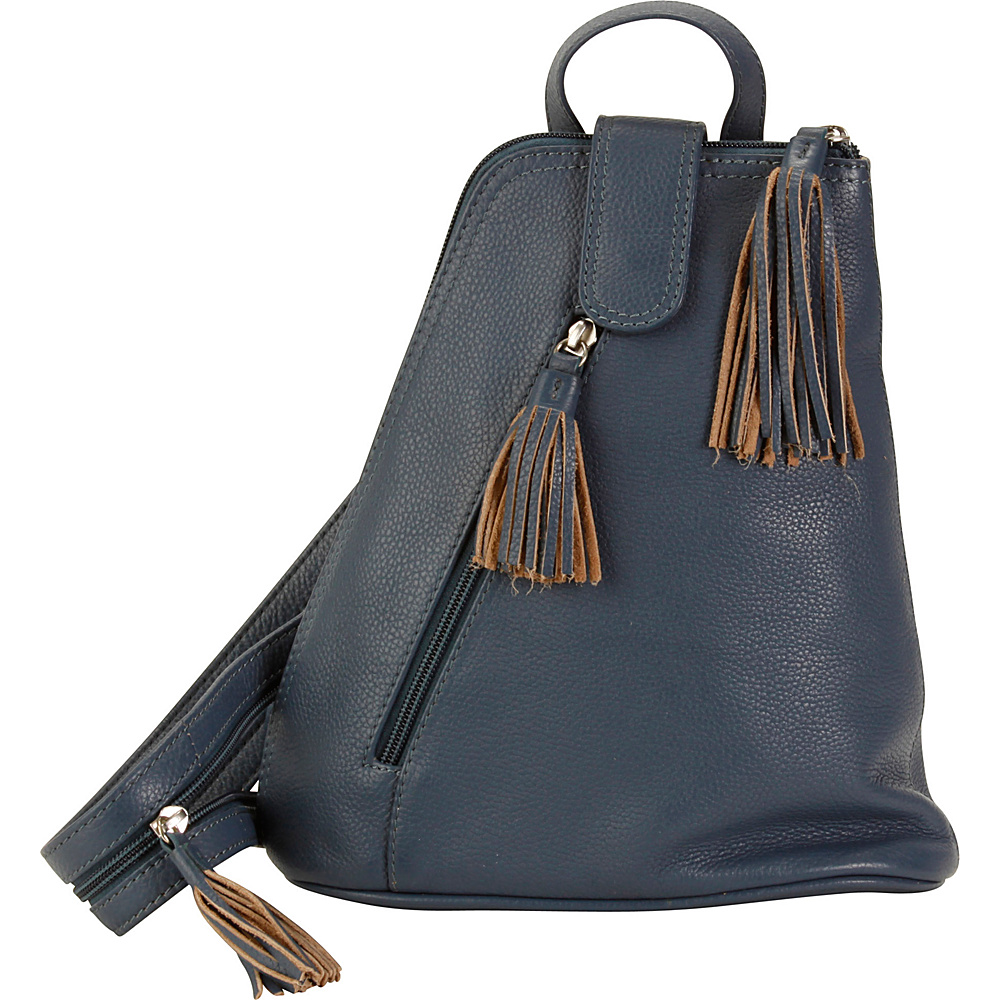 Hadaki Backpack Marine Blue - Hadaki Leather Handbags - Handbags, Leather Handbags