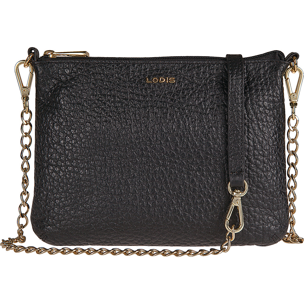 Lodis Borrego Under Lock and Key Emily Clutch Crossbody Black - Lodis Leather Handbags - Handbags, Leather Handbags