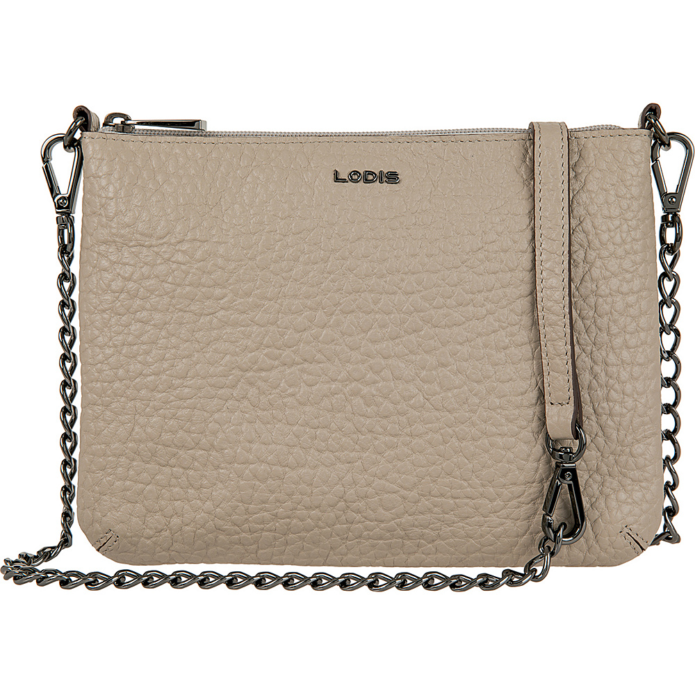 Lodis Borrego Under Lock and Key Emily Clutch Crossbody Taupe - Lodis Leather Handbags - Handbags, Leather Handbags