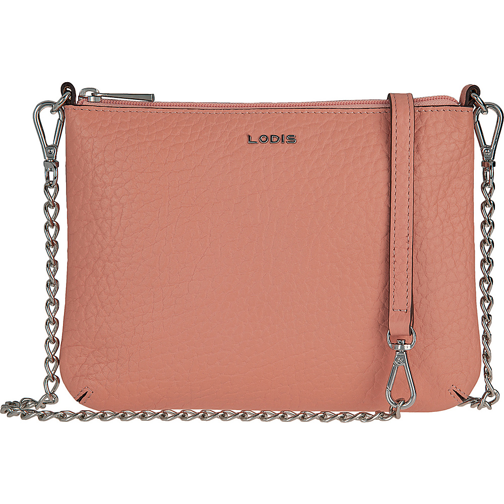 Lodis Borrego Under Lock and Key Emily Clutch Crossbody Blush - Lodis Leather Handbags - Handbags, Leather Handbags