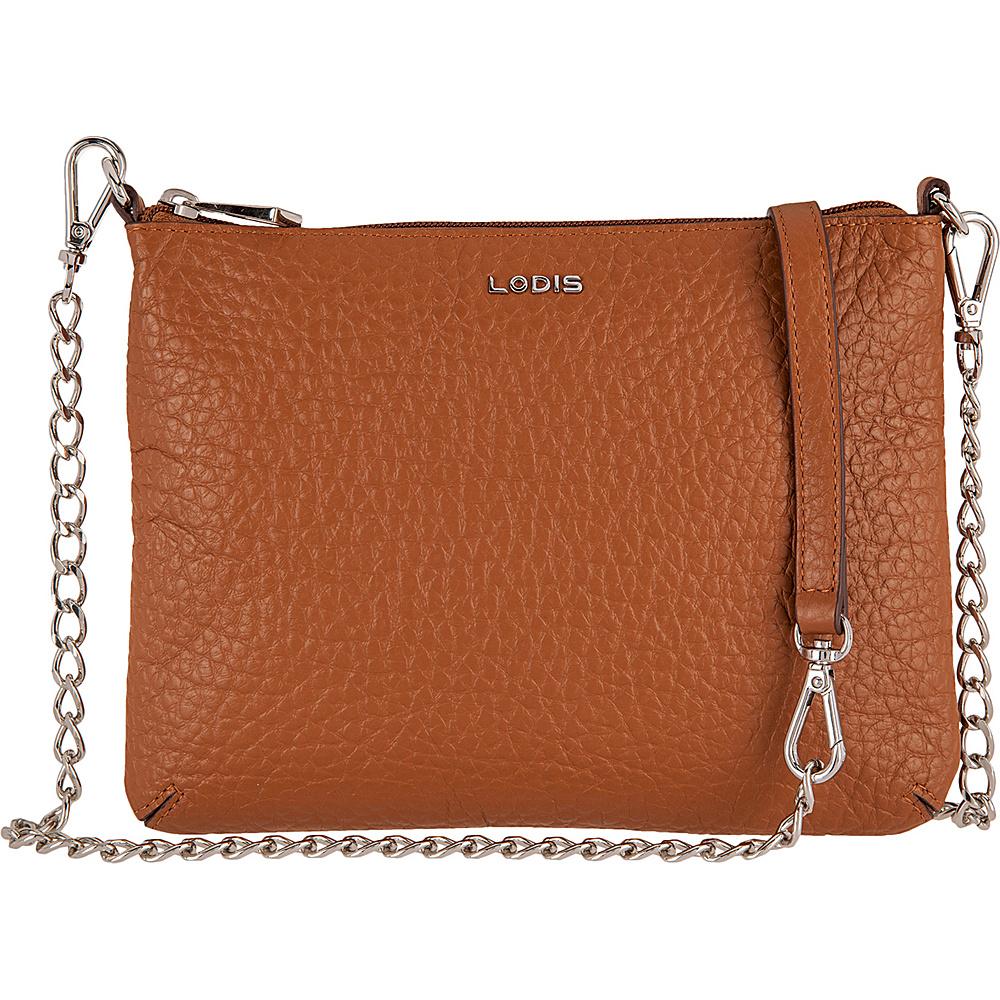 Lodis Borrego Under Lock and Key Emily Clutch Crossbody Toffee - Lodis Leather Handbags - Handbags, Leather Handbags