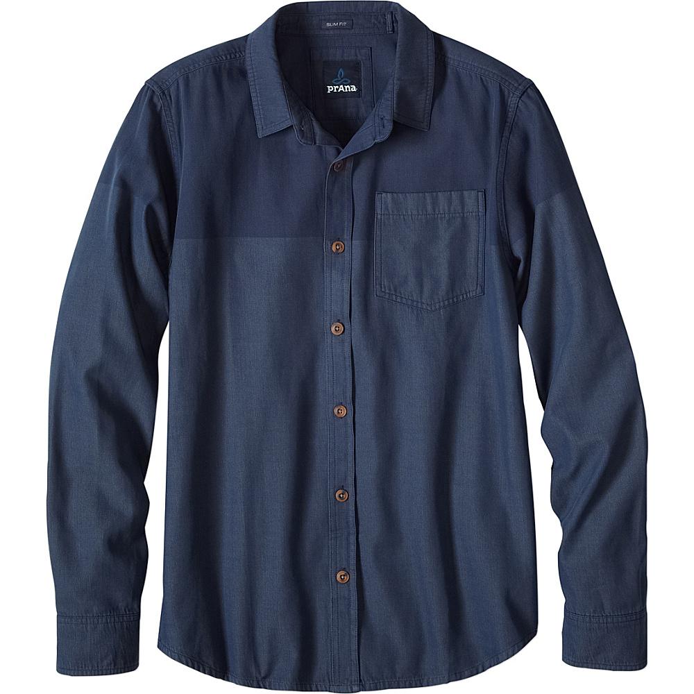 PrAna Brek Slim Shirt S - Denim - PrAna Mens Apparel - Apparel & Footwear, Men's Apparel