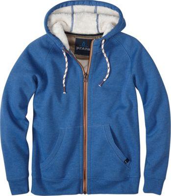 PrAna Lifestyle Full Zip Lined Hoodie M - Vintage Cobalt - PrAna Men's Apparel 10483970