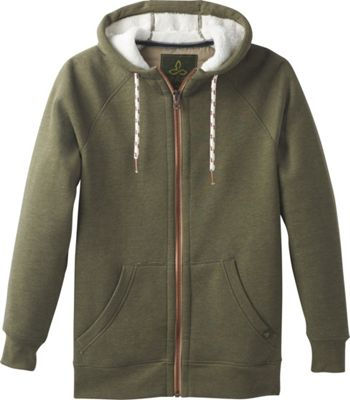 PrAna Lifestyle Full Zip Lined Hoodie XXL - Cargo Green - PrAna Men's Apparel
