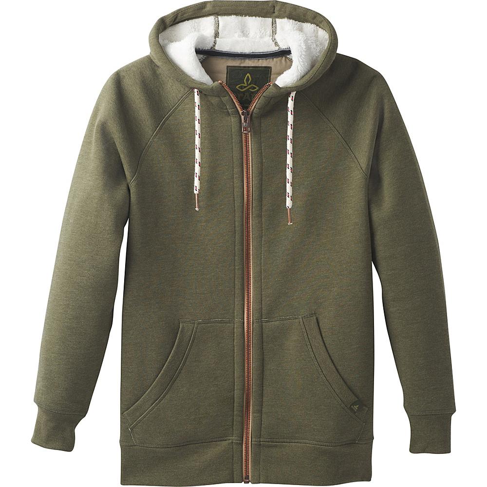 PrAna Lifestyle Full Zip Lined Hoodie M - Cargo Green - PrAna Mens Apparel - Apparel & Footwear, Men's Apparel