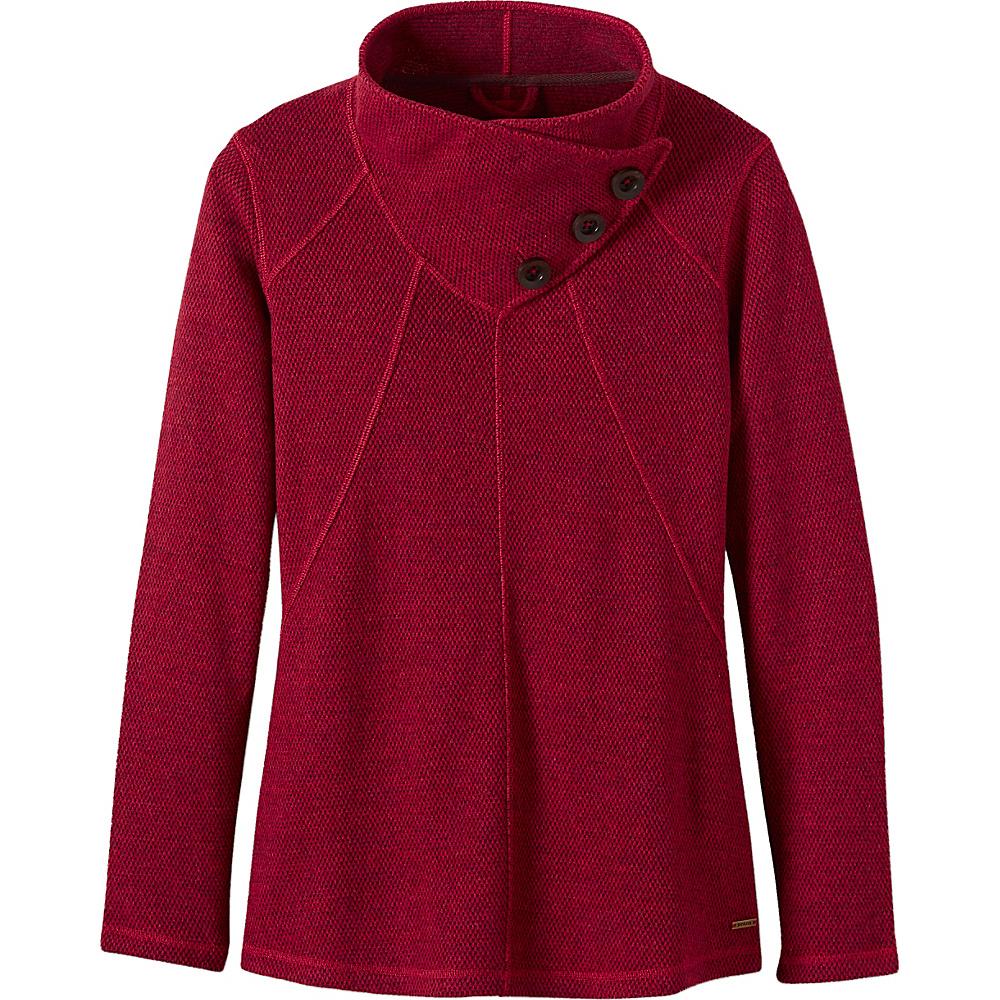 PrAna Ebba Sweater L - Sunwashed Red - PrAna Womens Apparel - Apparel & Footwear, Women's Apparel