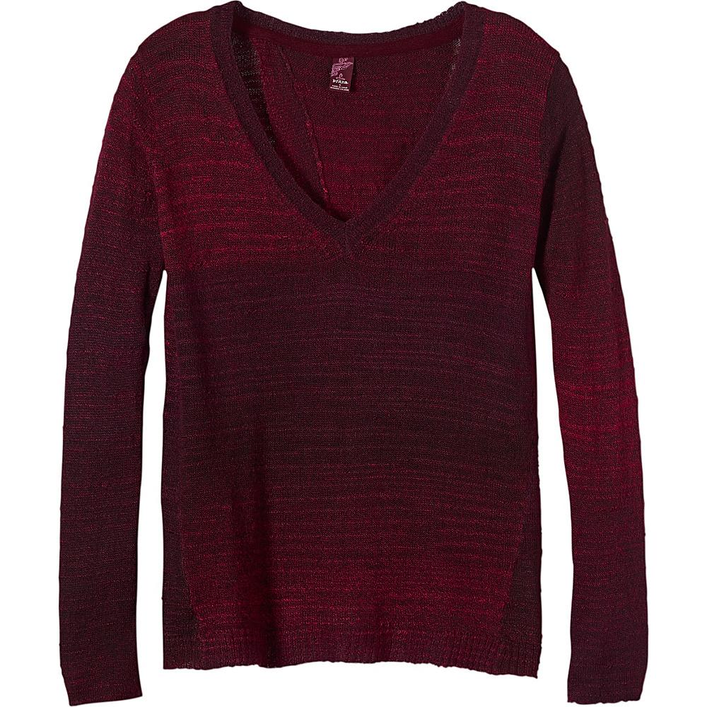 PrAna Julien Sweater L - Sunwashed Red - PrAna Womens Apparel - Apparel & Footwear, Women's Apparel