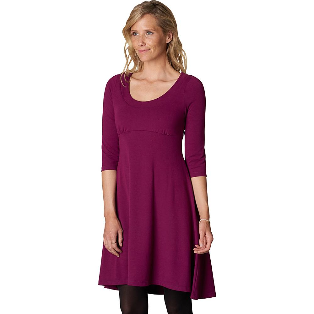 PrAna Cali L/S Dress S - Grapevine - PrAna Womens Apparel - Apparel & Footwear, Women's Apparel