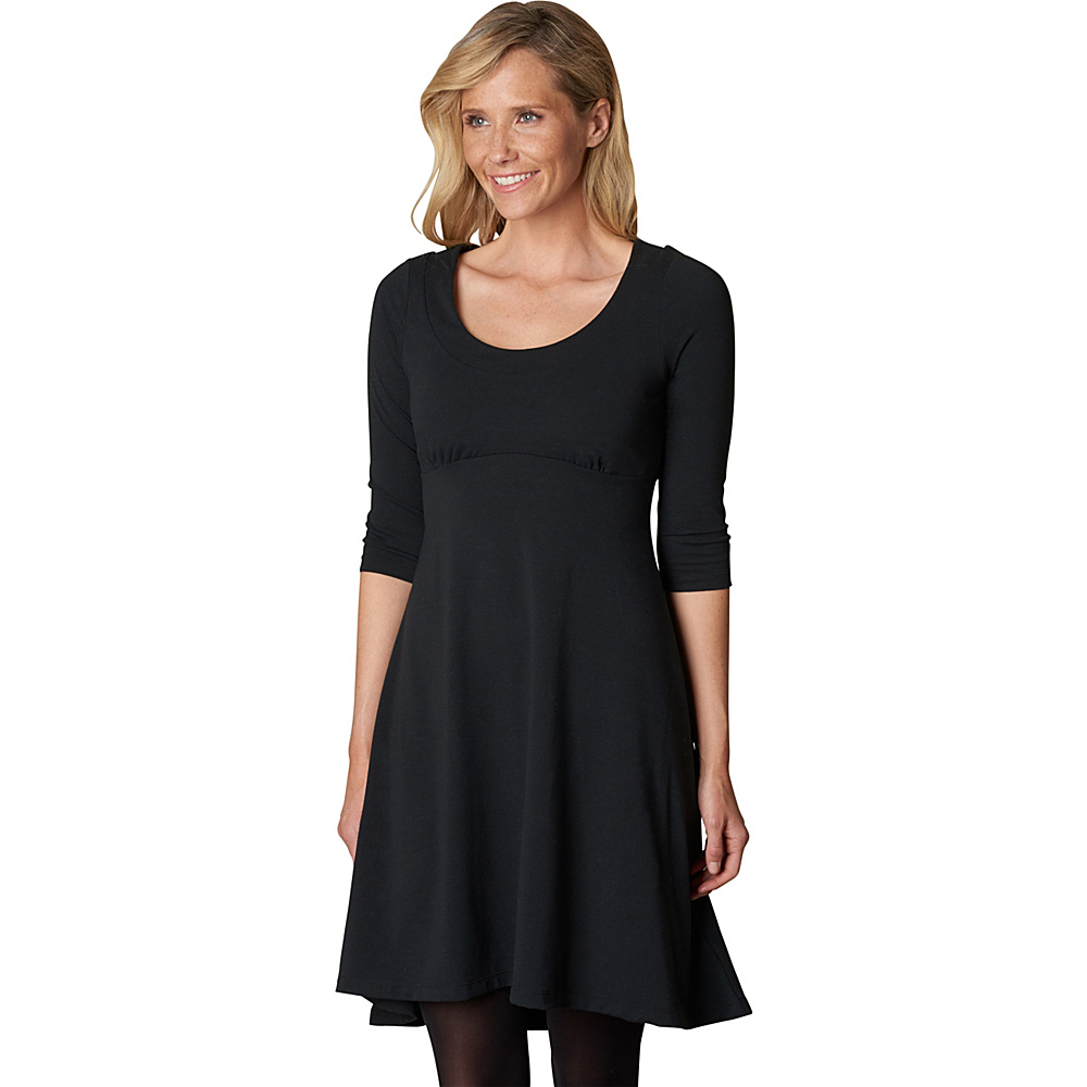 PrAna Cali L/S Dress S - Black - PrAna Womens Apparel - Apparel & Footwear, Women's Apparel